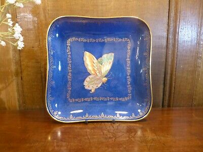 £185 • Buy ANTIQUE EXCELLENT Wedgwood BUTTERFLY LUSTRE Powder Blue & Gilt DISH - 21.5cms A