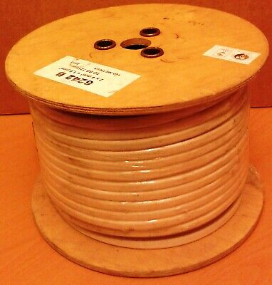 AU219.43 • Buy 100m Reel Of 6243 B Twin & Earth White 4mm Cable 2 X 4mm + 1.5 Mm BS7211 6243B