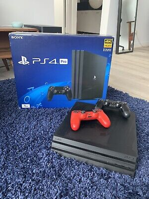 AU255 • Buy Sony PlayStation PS4 Pro 1TB Jet Black Console + 2 Controllers + 10 Games