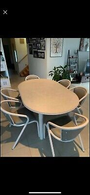 AU178 • Buy 6 - 8 Seater Extendable Dining Table And 6 Matching Chairs.
