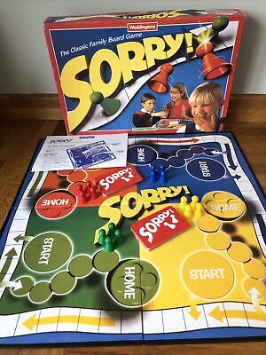 £15.95 • Buy Vintage Retro 1997 Waddingtons Sorry! Family Board Game 100% Complete - Free P&P