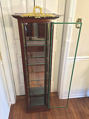 $454.30 • Buy Vintage Louis XVI Mahogany Display Cabinet With Glass Shelves