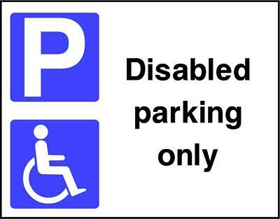 £9.54 • Buy Disabled Parking Only Sign