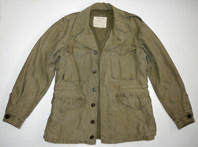 $89.99 • Buy Vtg WWII M1943 Second Model Field Jacket 34R US Army Military OD Green NICE