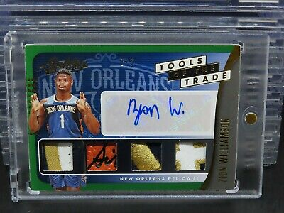 AU785.63 • Buy 2019-20 Absolute Zion Williamson Tools Of The Trade Green RC Patch Auto #2/3 D10