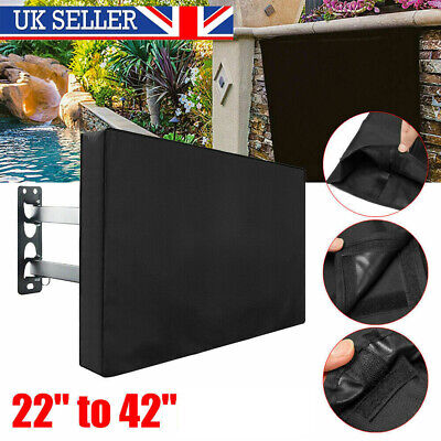 £18.89 • Buy TV Cover 22 -42  LED LCD Television Protective Waterproof Outdoor / Indoor Black