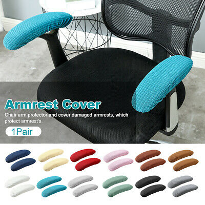 AU11.83 • Buy Removable Elastic Washable Waterproof Fabric 1pair Office Chair Armrest Cover