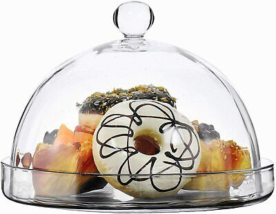 £36.99 • Buy Glass Round Cake Cheese Dome Cloche & Platter Plate - Choice Of Styles