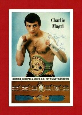 £8.99 • Buy Boxing Autograph - Charlie Magri - Boxer - World Flyweight Champion (sk47)