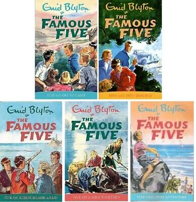 £14.95 • Buy NEW SET Of 5 X FAMOUS FIVE Books 6 -10 Enid Blyton 6 7 8 9 10  (UPDATED COVERS)