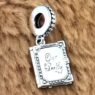 AU23.03 • Buy Authentic 925 Sterling Silver Family Book Dangle Charm Fit Moments Bracelets NEW