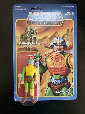 $34.99 • Buy Super7 ReAction Masters Of The Universe Figure MOTU Glow In The Dark Man At Arms