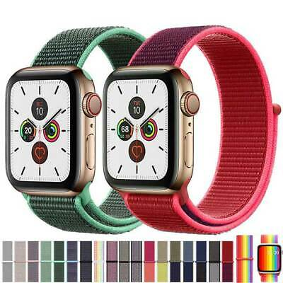 AU6.99 • Buy Nylon Woven Sport Strap Band 38 40 42 44mm For Apple Watch Series 1 2 3 4 5 6 SE