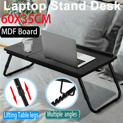 AU27.33 • Buy Laptop Table Stand Desk Lap Tray Computer Portable Adjustable Foldable Bed Sofa