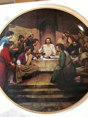 £9.99 • Buy The Last Supper -Vintage Collectors Plate By Lou Marchetti, Danbury Mint