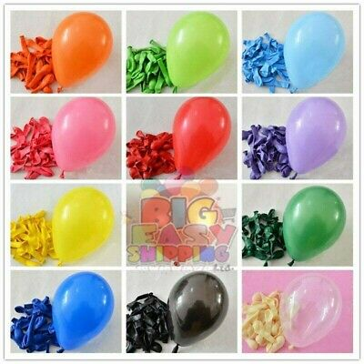 AU8.97 • Buy 5  Inch Small Latex Balloons WHOLESALE Party Birthday 100 Wedding All Decoration