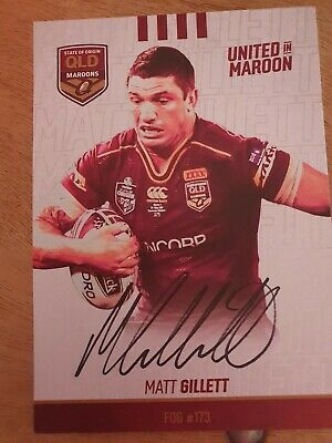 AU15 • Buy Signed Matt Gillett 2019 Qld State Of Origin Maroons Card