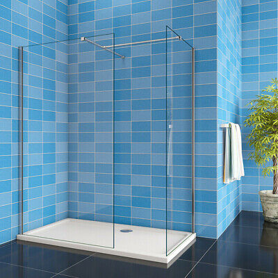£86.58 • Buy Walk In Shower Screen&Tray Wet Room Enclosure End Panel NANO 8mm EasyClean Glass