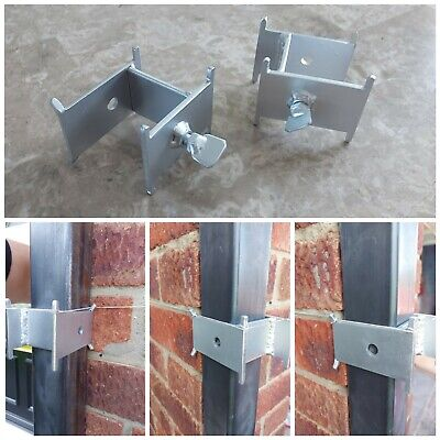 £23.99 • Buy 2x Long Sided DORI BLOCK With 8 Tie Points For 40 & 50mm Brick Profile Poles