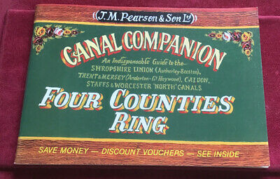 J M Pearson Canal Companion Four Counties Ring Book Guide • 5.99£