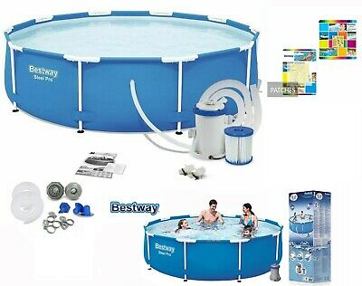 £179.99 • Buy Bestway 10FT 305x76cm Steel Pro-Round Swimming Pool/Pump/Filter/Patch