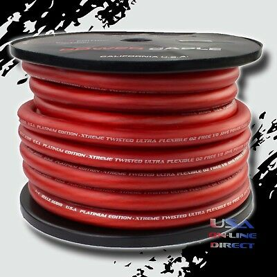 AU2.87 • Buy 1/0 Gauge RED Power Ground Stranded Wire Car Audio Cable Sold By The Foot