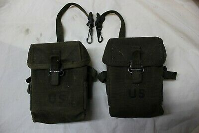 $64.95 • Buy US Military Issue Vietnam M1956 7.62 308 Canvas Rifle Magazine Pouch Lot Of 2 R2