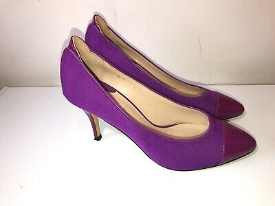 £19.99 • Buy Reiss Magenta Pink Purple Leather Stiletto Pumps Shoes Size 6