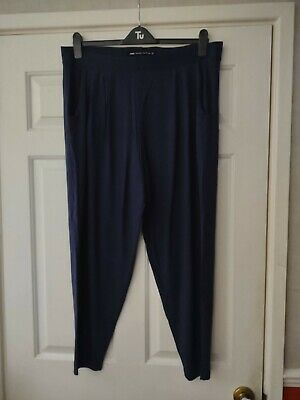 AU7.16 • Buy Next Plus Size 20 22 Navy Blue Tapered Leg Trousers Stretch Leggings Jeggings