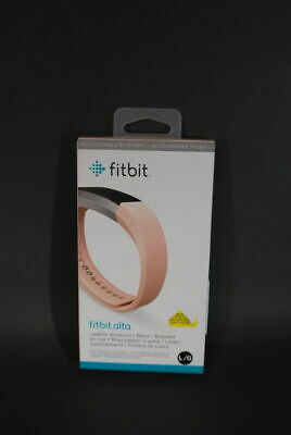 AU1.28 • Buy Genuine Fitbit Alta Leather Accessory Band Pink New In Box Fitbit Not Included