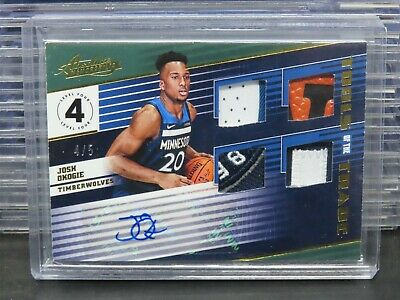 AU1.28 • Buy 2018-19 Absolute Josh Okogie Tools Of The Trade Patch Auto Rookie RC #4/5 F72