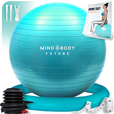 Exercise Ball Chair - Yoga Ball & Stability Ring. For Pregnancy, Balance, Or Use • 40.97£