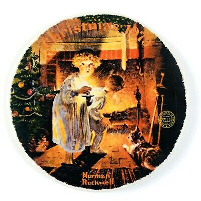 $ CDN28.27 • Buy Norman Rockwell 1979 Fine China Limited Somebody's Up There Christmas Plate