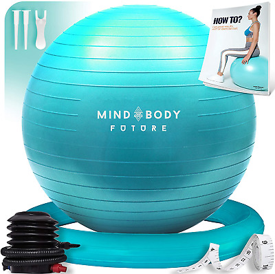 Yoga Ball Chair - Exercise Ball & Stability Ring. For Pregnancy, Balance, Or Use • 37£