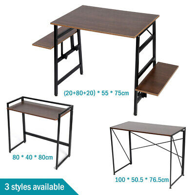 AU89 • Buy Fold Up Computer Desk Office Table Storage PC Student Laptop Writing Study Home