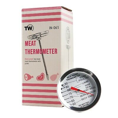£6.95 • Buy Meat Thermometer Dial Leave In Oven Roasting Beef Lamb Turkey Steak - In-063
