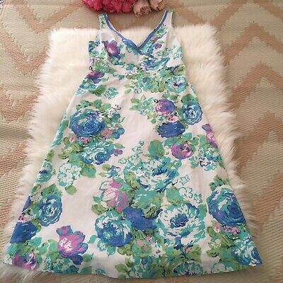 AU40.25 • Buy Women's, Boden, Size 10 Long, Floral Print, Dress, Fit & Flare, Blue/ Green Mix