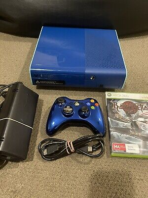 AU13.50 • Buy Xbox 360 E Console Rare Limited Edition Blue. 500 GB With Controller & Game