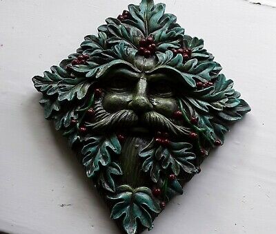 £19.99 • Buy Green Man Wall Plaque, Holly King, Pagan, Wiccan