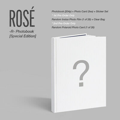$ CDN139.13 • Buy BLACKPINK Rosé Rose -R- Photobook Special Edition Photocard+Sticker Set+Etc+Exp