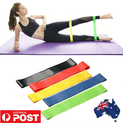 AU8.99 • Buy 5PCS Ladies Men Resistance Bands Set Home Exercise Legs Arms Booty Yoga Physio