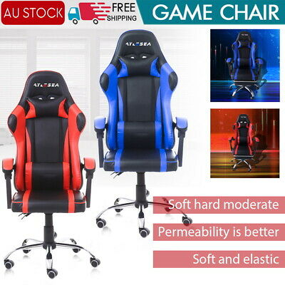 AU103 • Buy Gaming Office Chair Racing Executive Footrest Computer Seat PU Leather Backrest