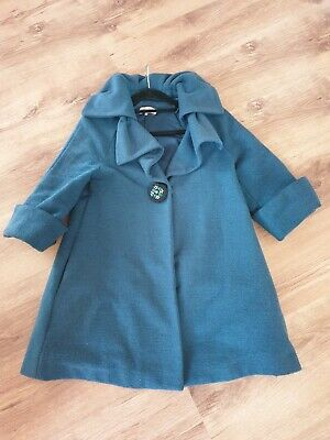 £17 • Buy Darling Teal 50's Vintage Style Coat - Size XS