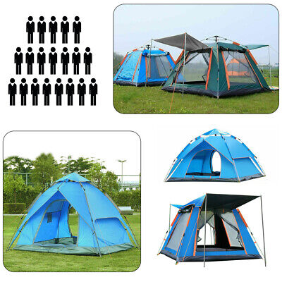 £49.89 • Buy 4-8MAN Pop Up Tent Camping Festival Hiking Dome Shelter Family Portable