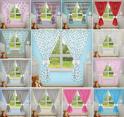 £17.39 • Buy Curtains Window Baby Child Bedroom Cotton Decorative Bows Nursery Pincer Clips