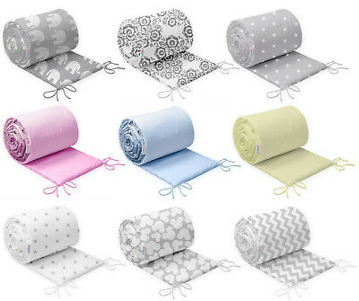 £11.99 • Buy COT BUMPER STRAIGHT 100% COTTON PADDED FOR BABY FIT COT 120x60 COTBED 140x70