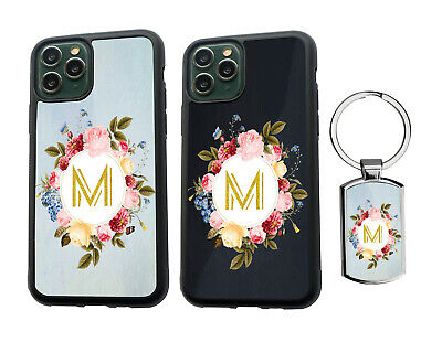 AU13.99 • Buy PERSONALISED Initials Floral Silicone Case IPhone XS MAX 11 12 Pro Max + Keyring