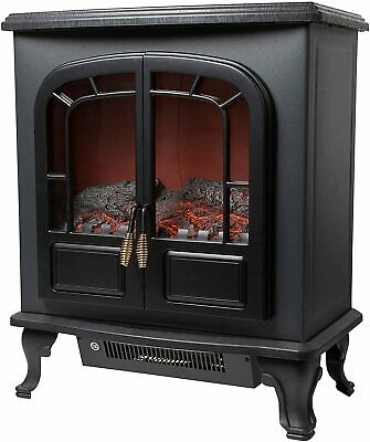 £112.99 • Buy Warmlite Wingham 2 Door Portable Electric Fireplace/Stove, Heater/LED Log Fire