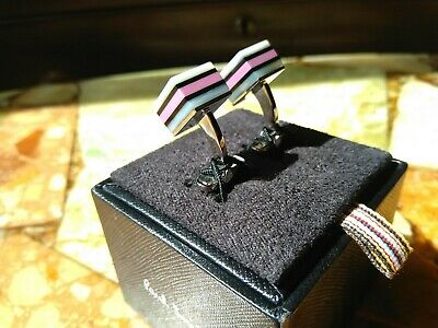 £39.95 • Buy Paul Smith - Cufflinks - Mother Of Pearl/Pink - Dolly Mix - New In Box