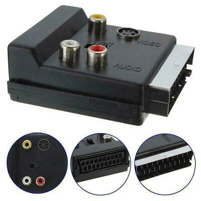 £2.41 • Buy SWITCHABLE SCART MALE TO FEMALE & 3*RCA PHONO & 4 Pin Mini SVHS TV ADAPTER M3A2